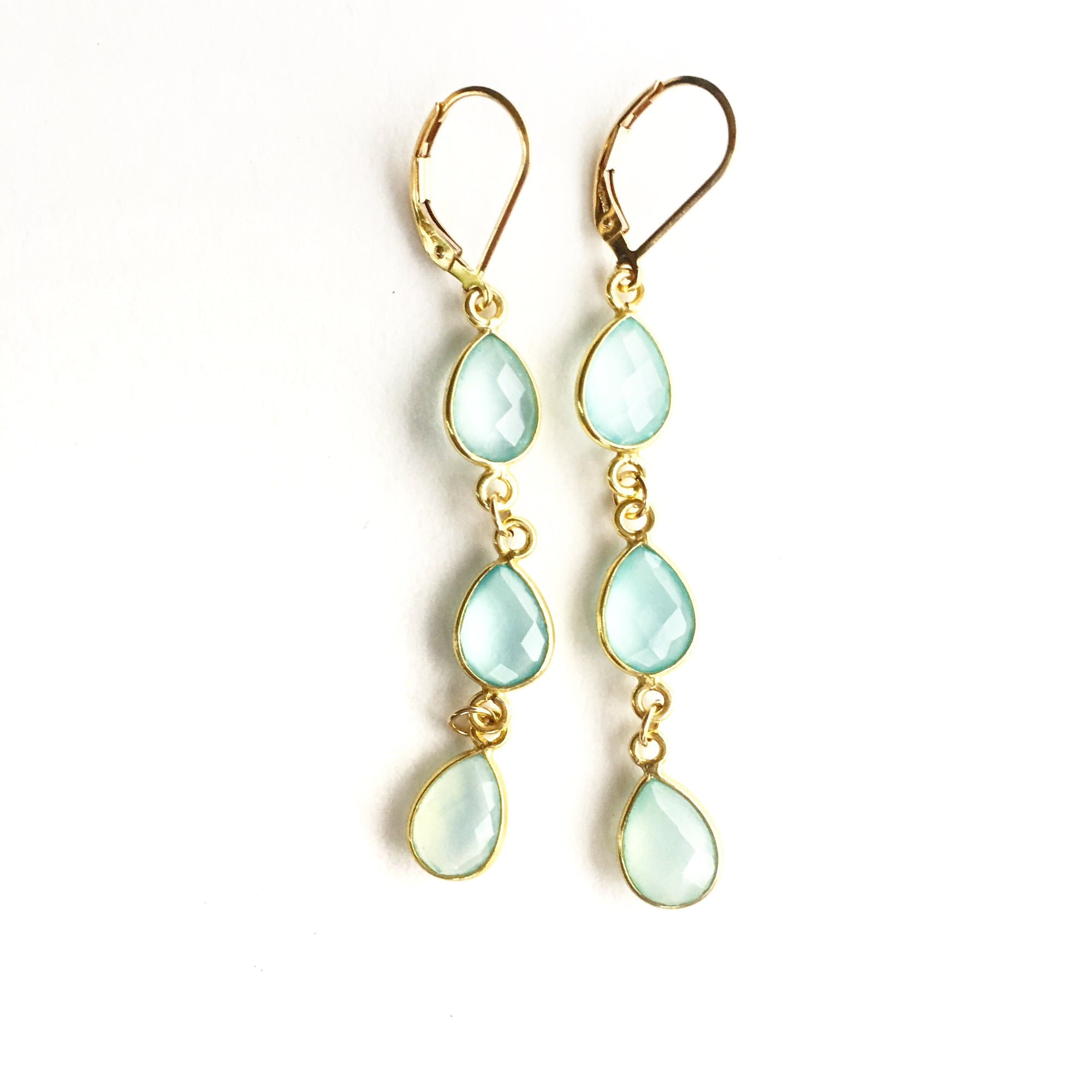 Hamptons Aqua Chalcedony Earrings