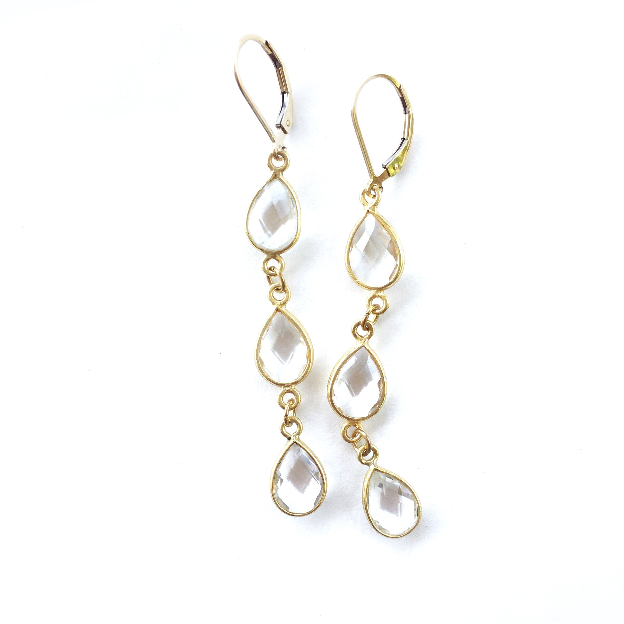 Hamptons Clear Quartz Earrings