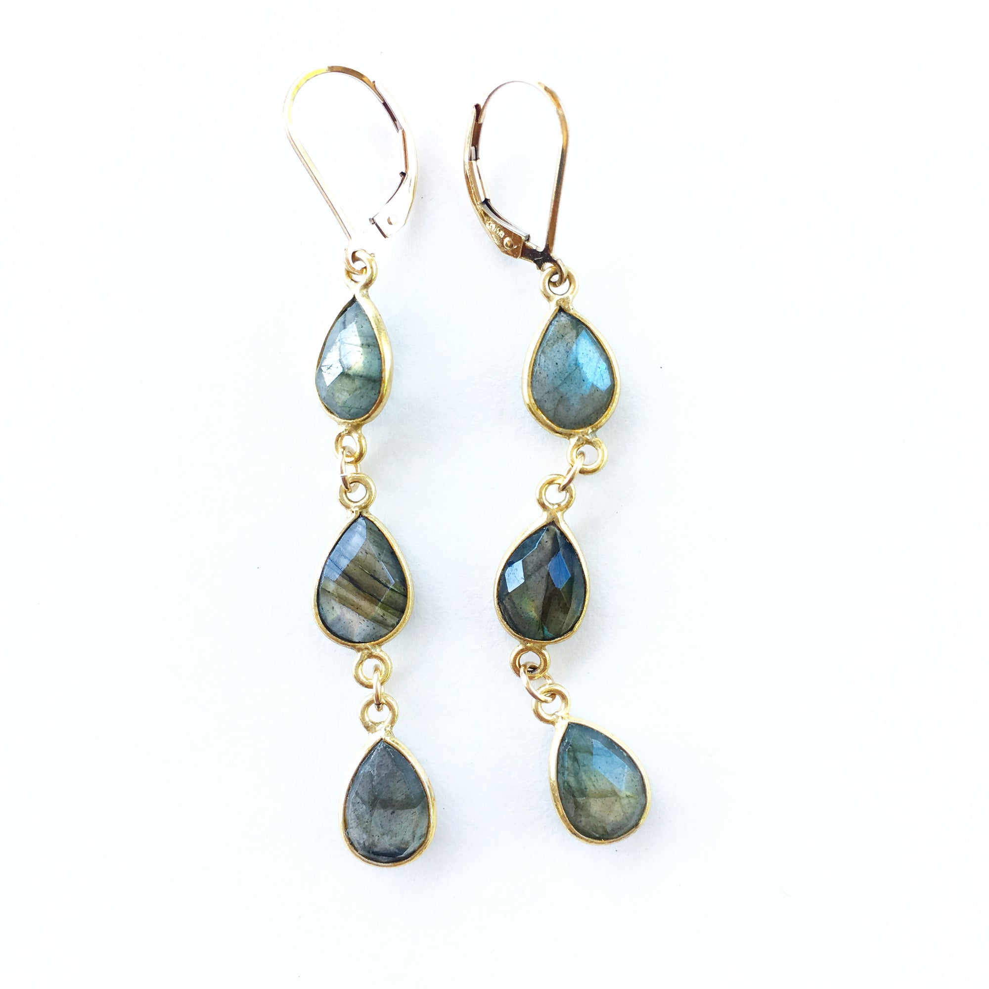Hamptons Labradorite Earrings
