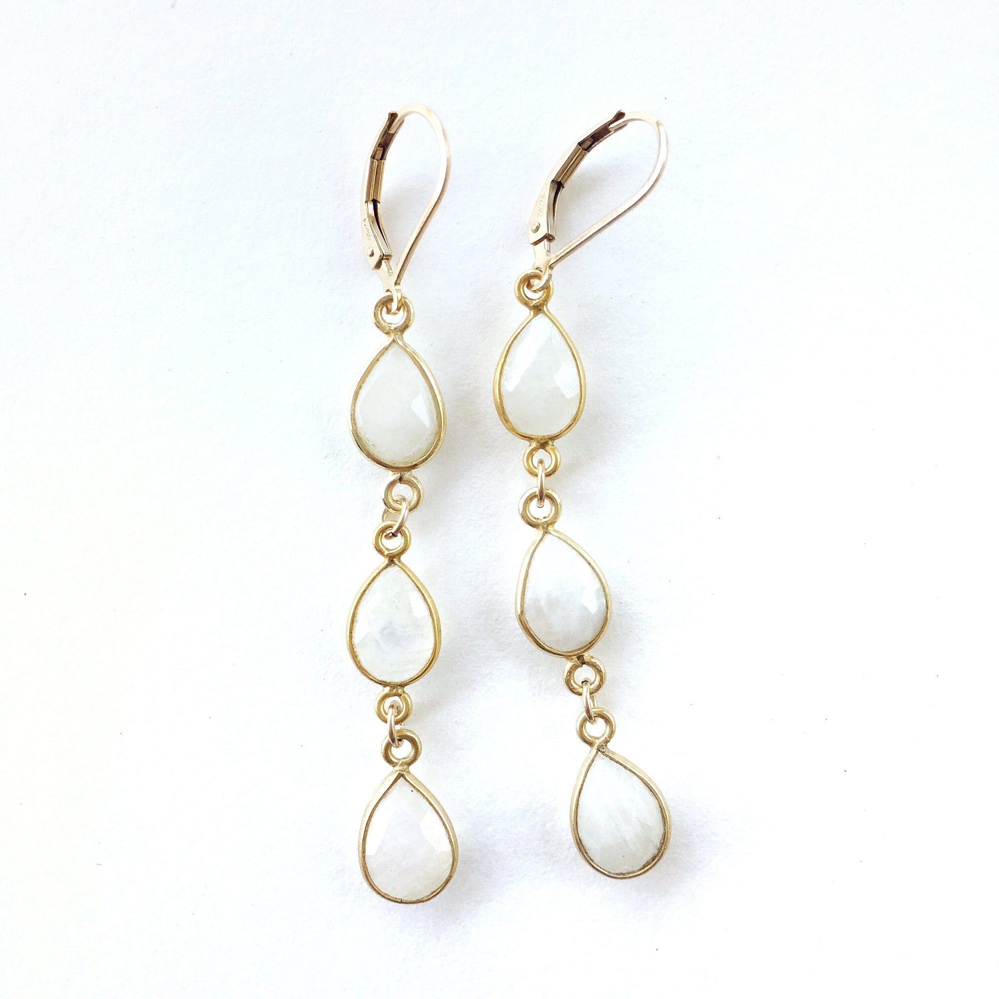 Hamptons Moonstone Earrings