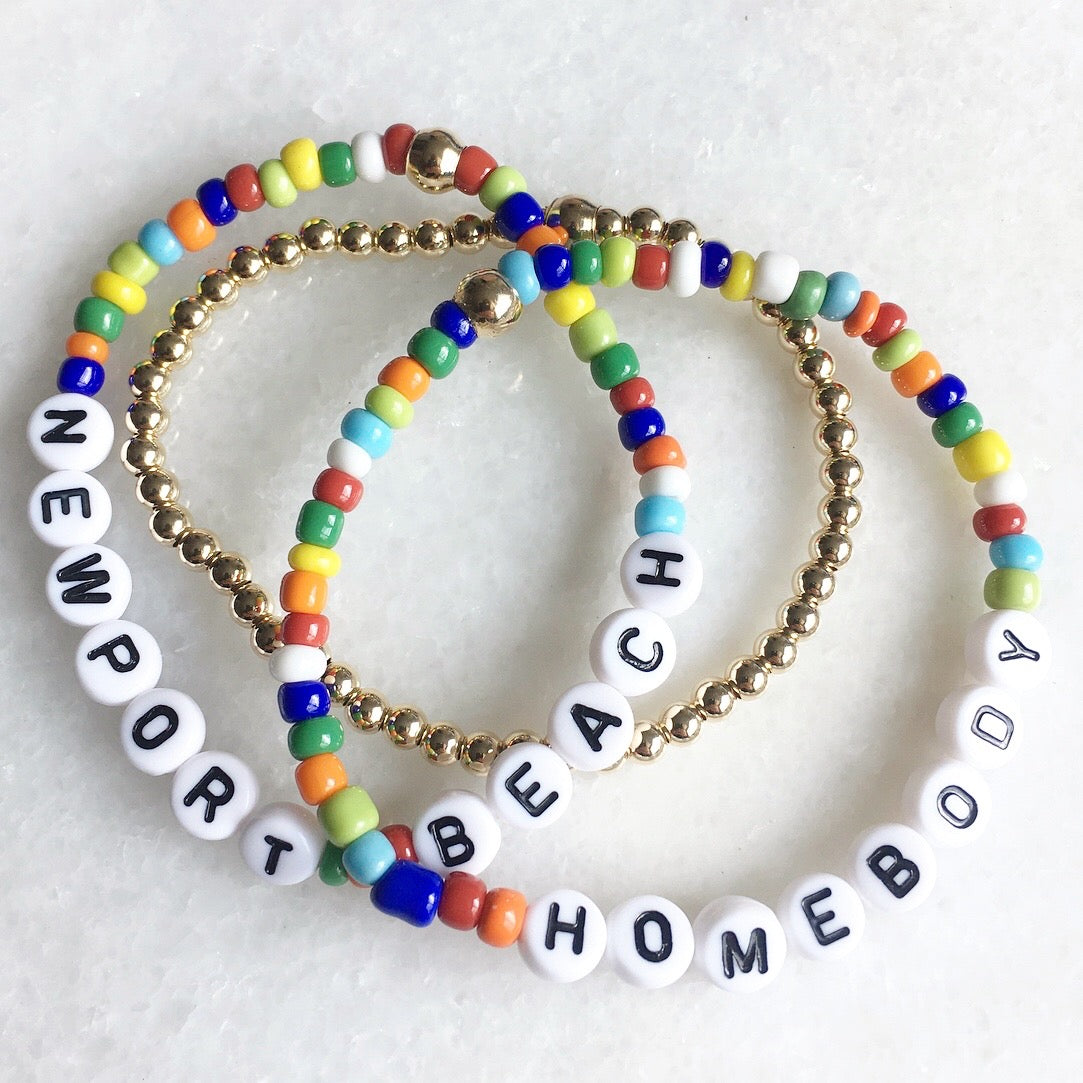 Rainbow & Gold Bracelet Set