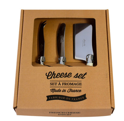 Laguiole Three Piece Ivory Cheese Set