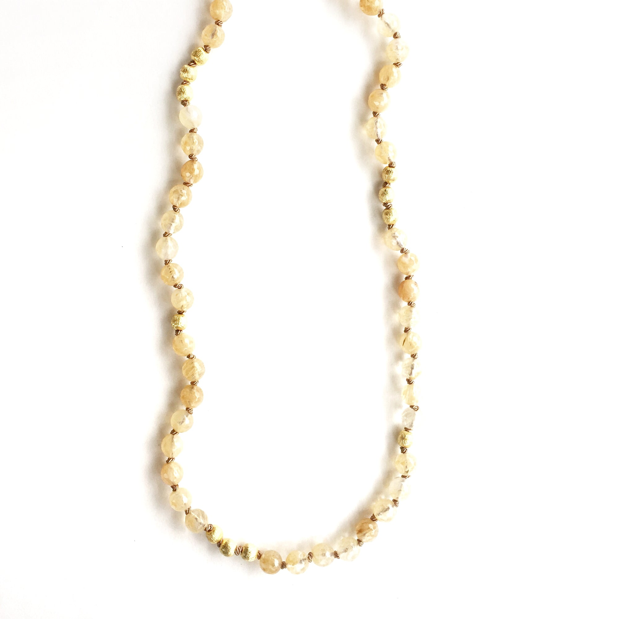 Solana Champagne Quartz Necklace