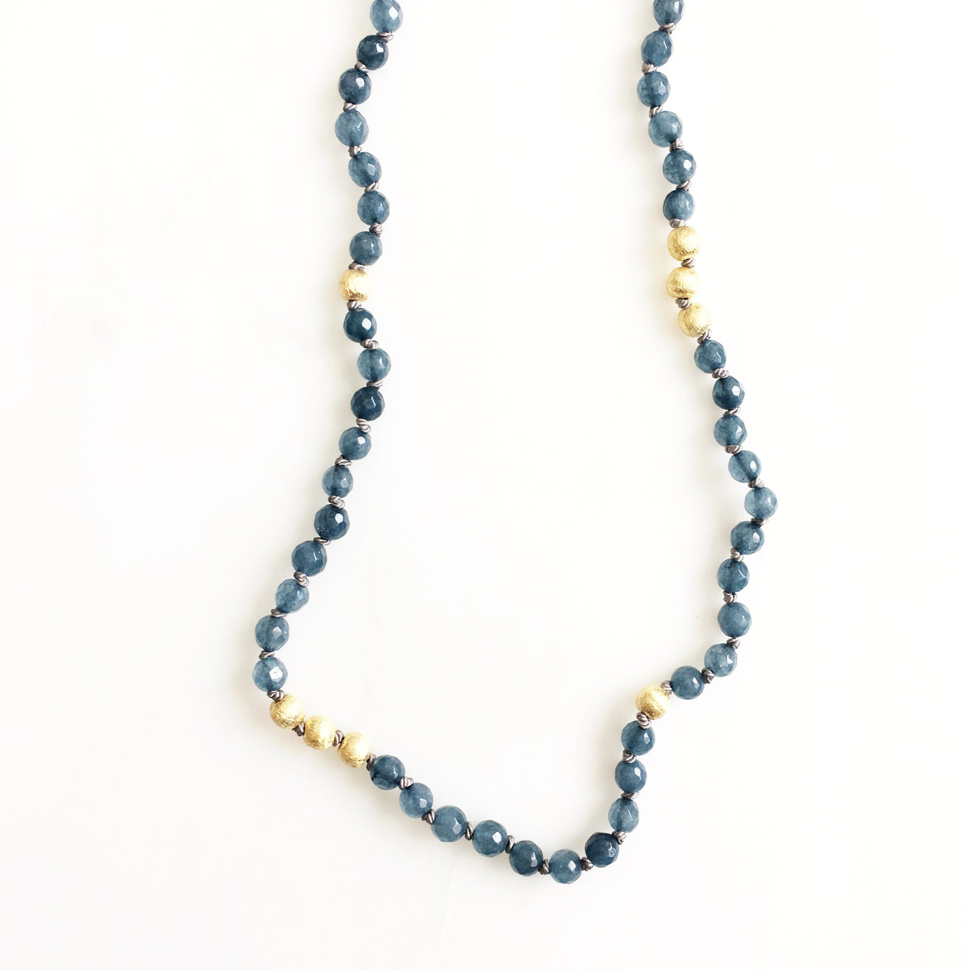 Solana Indigo Jade Necklace