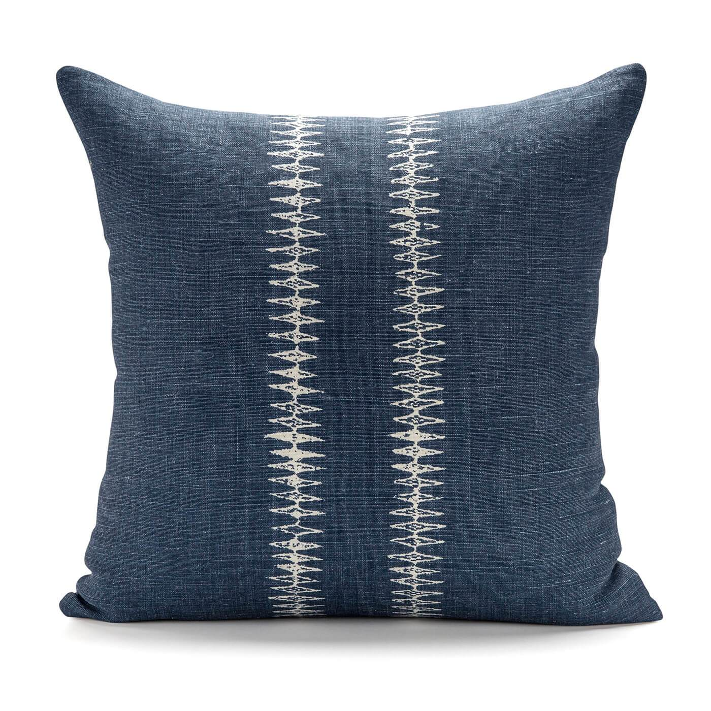 Sound Dark Denim Blue Pillow