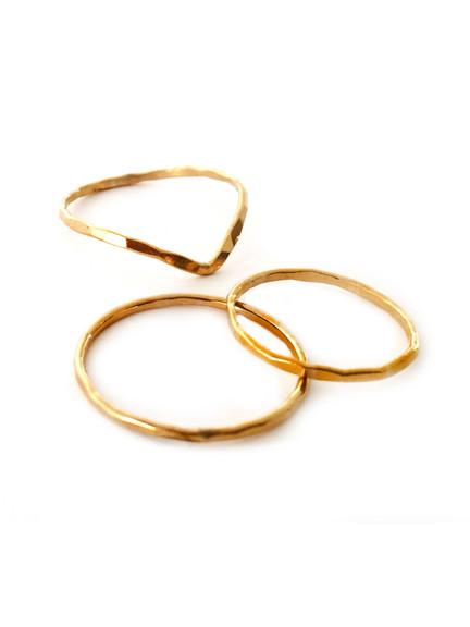 Stackable Gold Ring Set