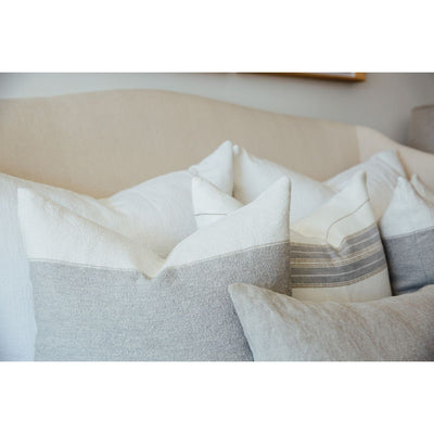 Woven White King Euro Pillow