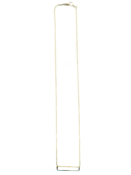 Amber Silver Bar Necklace