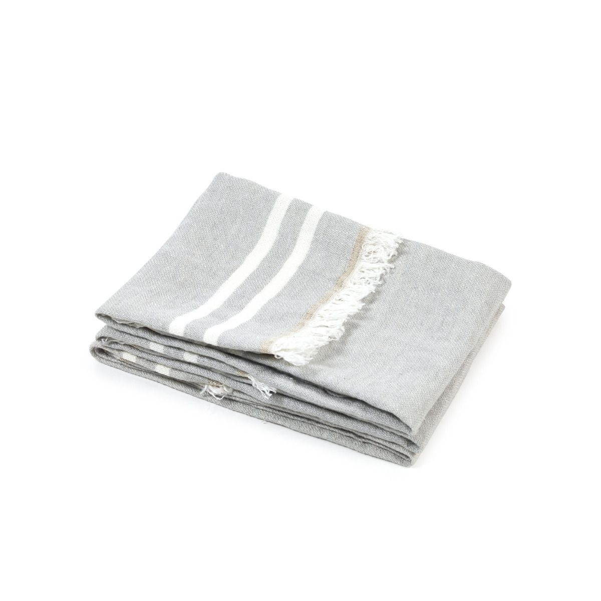 Belgian Guest Towel Gray Stripe