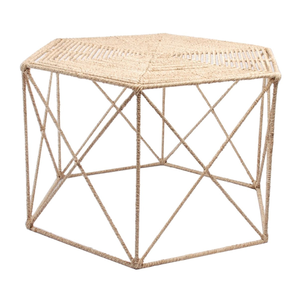 Jute Hexagonal Coffee Table