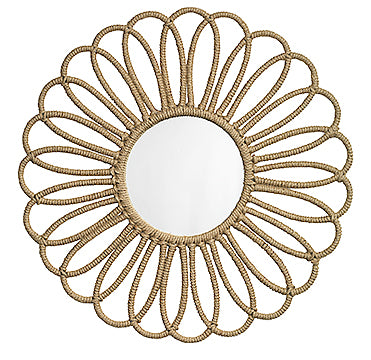 Jamie Young Flower Jute Rope Mirror