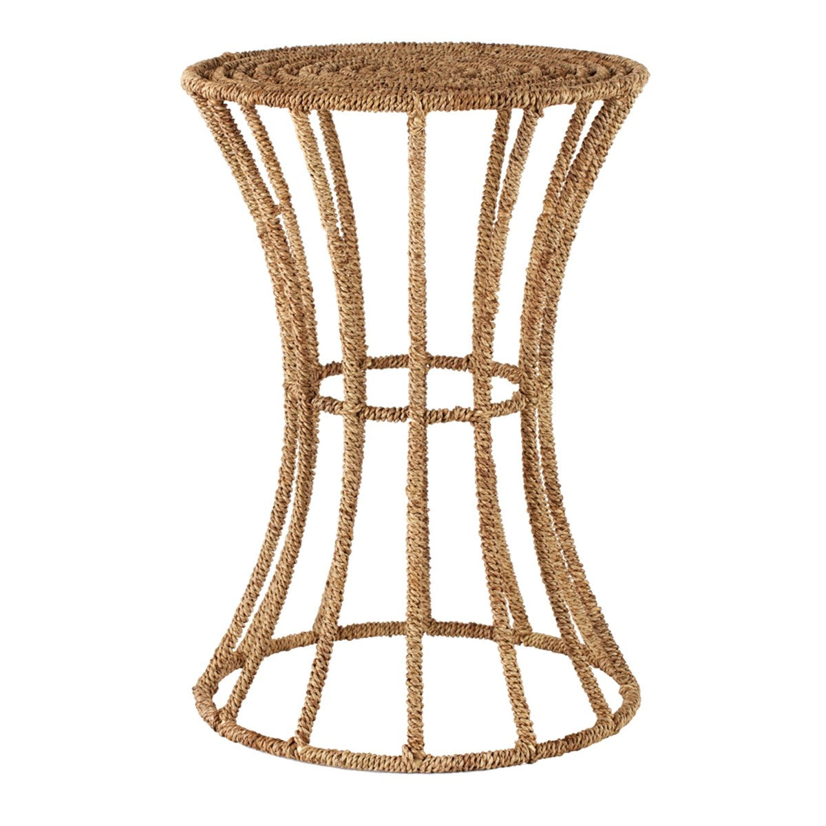 Jute Spool Side Table