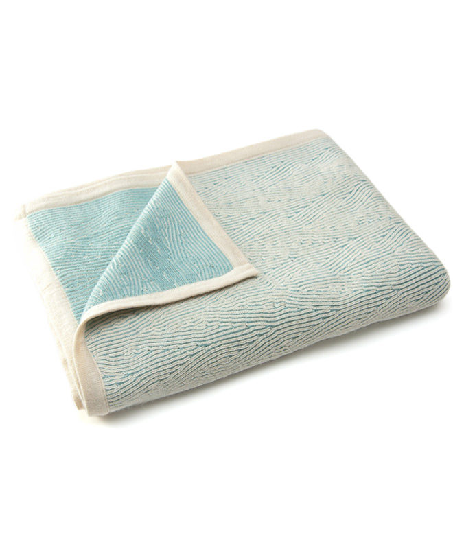 Sefte Kimsa Cream/Seaglass Throw