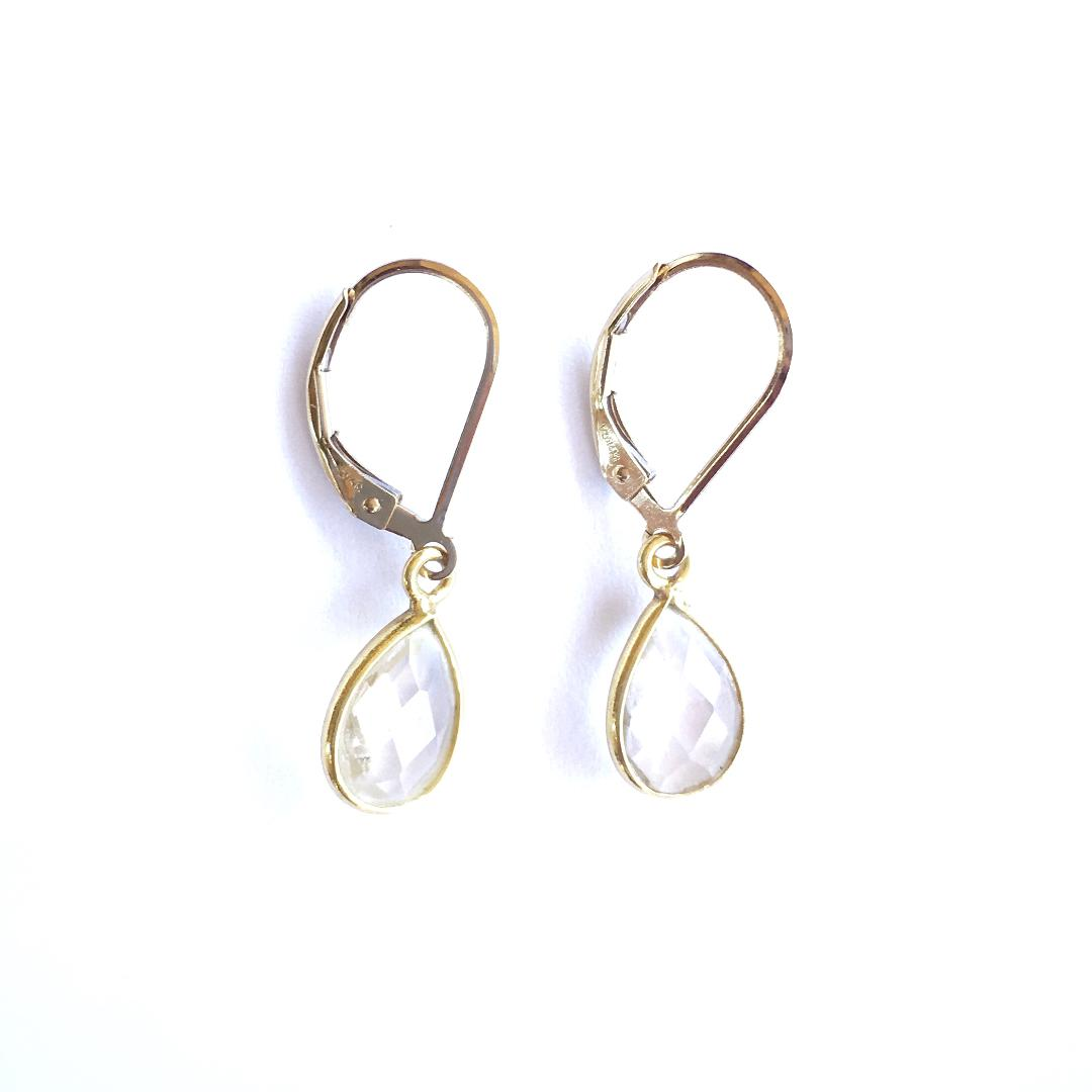 Luna Clear Quartz Earrings