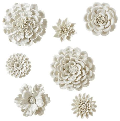 Garden Flower Wall Sculptures (Set of 7)