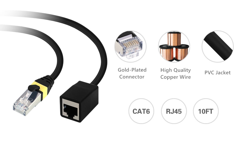 Shielded Ethernet Extension Cable
