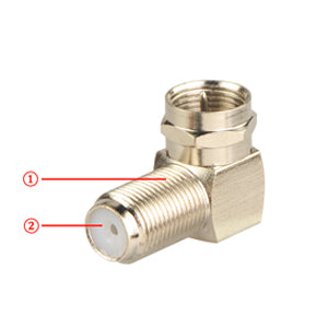 Right Angle F-Type Coaxial RG6 Adapter