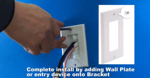 brush wallplate installation