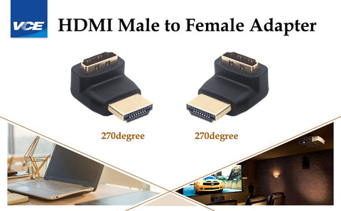 HDMI 270 Degree Male to Female Adapter