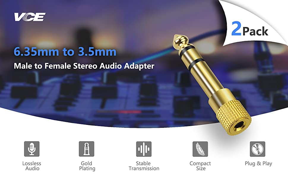 Male to Female Stereo Jack Adapter