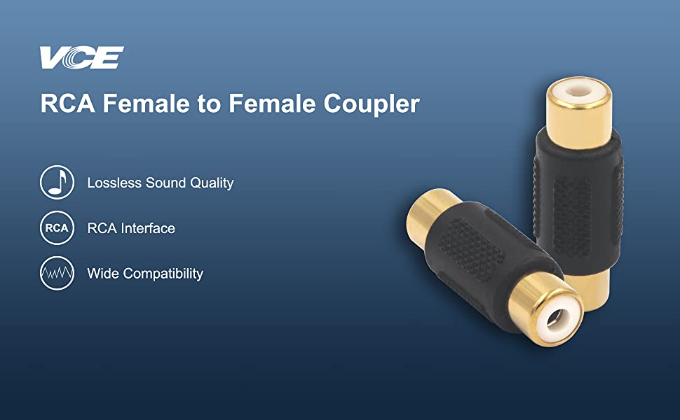 RCA Female to RCA Female Coupler