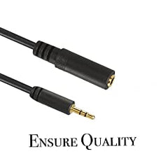 2.5mm Male to 3.5mm Female Stereo Jack Cable Adapter