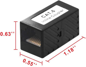 RJ45 CAT6 Inline Coulper Ethernet Cable Extender