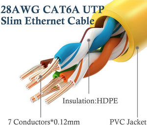 RJ45 Cat6A Ethernet Snagless Patch Cable