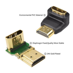 HDMI 90 Degree and 270 Degree Male to Female Adapter