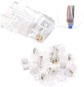 RJ45 Pass Through Modular Plugs