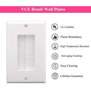vcelink brush wall plate