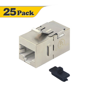 CAT6A Straight Female Shielded Keystone Jack