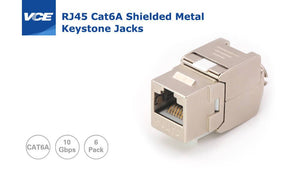 Shielded Metal Keystone Jacks