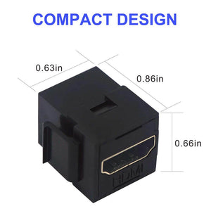 HDMI Female to Female 3D4K Mini Coupler Adapter