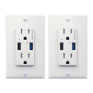 QC3.0 Quick Charge USB Wall Outlet