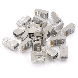 VCELINK Nickel Plated Shielded Cat6/Cat5E RJ45 Modular Plug  25-Pack