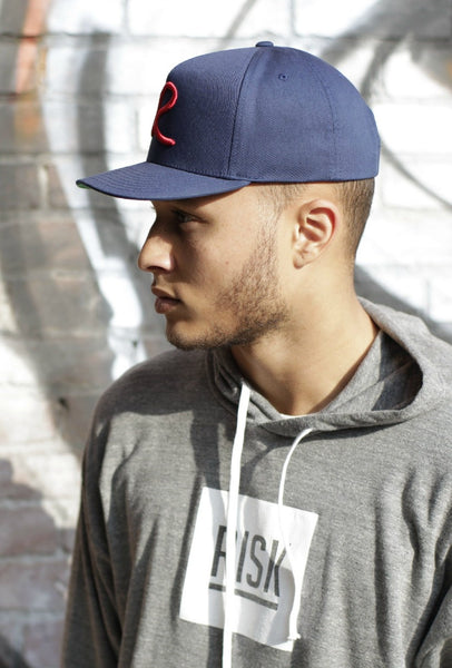 Navy & Red Signature Snap Back