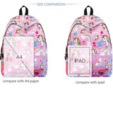 Cute Cartoon Unicorn Girl Rainbow Pony Backpack Middle School Student Bag Backpack - wikoco