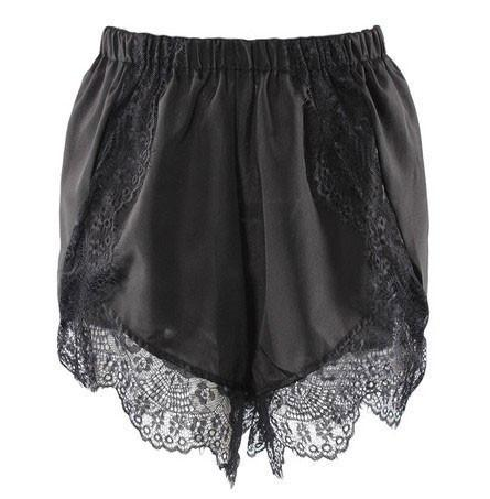Comfortable lady fashion lace shorts - wikoco.com