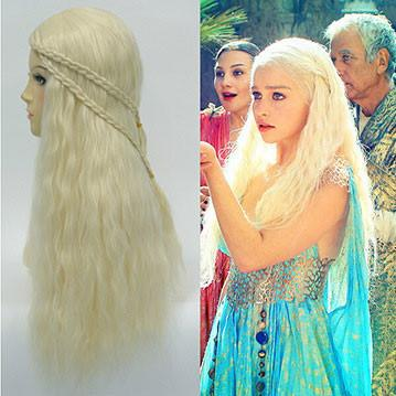 Cosplay Braiding Princess 613 Blond Hair Wigs - wikoco.com