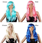 Cosplay Series Cartoon Long Curly Hair Wigs - wikoco.com