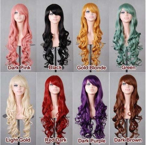 Long Colorful Loose Wave Cosplay Hair Wigs - wikoco.com