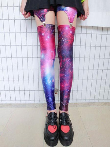 Retro Cross &Galaxy Star &American Flag Leggings - wikoco.com