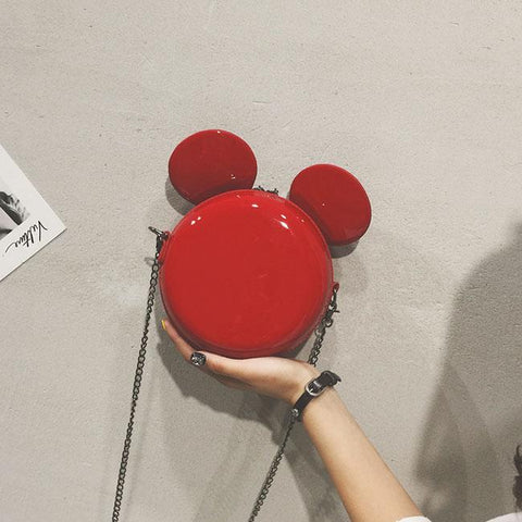 Lovely Mickey Mouse Ear Cartoon Small Round Shoulder Bag