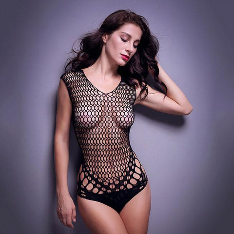 Sexy Tight Mesh Conjoined Net Hot Intimate Lingerie