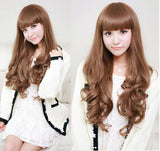Pretty Girl 24 Inch Long Wavy Hair Lace Wigs - wikoco.com