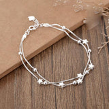Sweet Girlfriends Gift Jewelry Lover Present Women Bracelet Double Stars Layer Bracelet