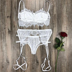 Sexy Bra Set Hollow Sling Intimate Lace Women Lingerie - wikoco