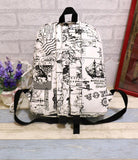 Fashion Canvas Graffiti Map Casual Backpack School Bag
