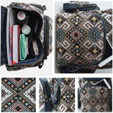 Fresh Systems Stitching Leather Travel Backpack Schoolbag